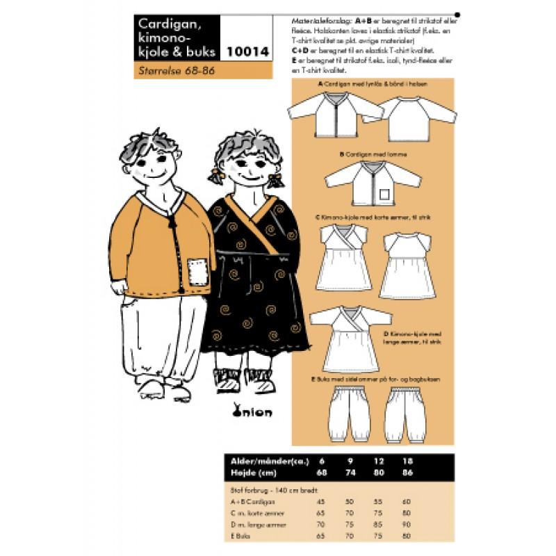 Onion 10014- Cardigan, kimono-kjole & buks