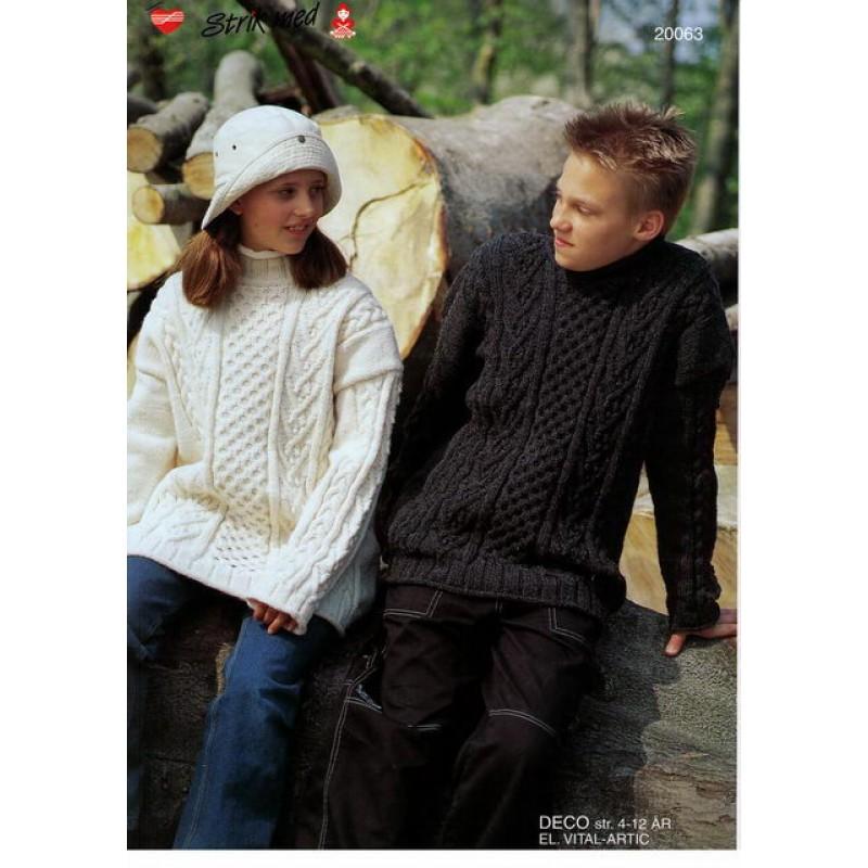 20063 Barnesweater m/ aranborter-30