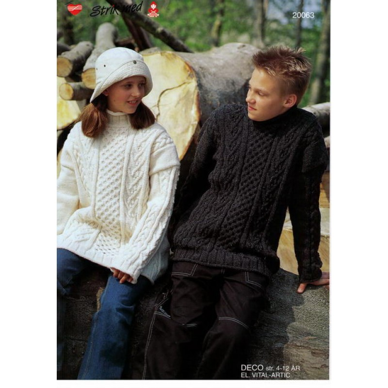 20063 Barnesweater m/ aranborter-00