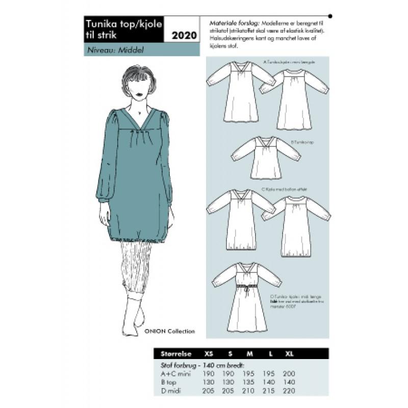 Onion 2020 Tunika top/kjole til strik-31