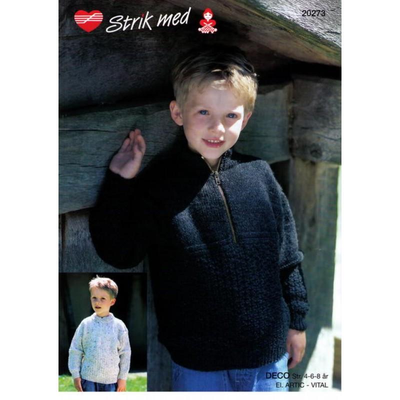 20273 Sweater m/lynlås
