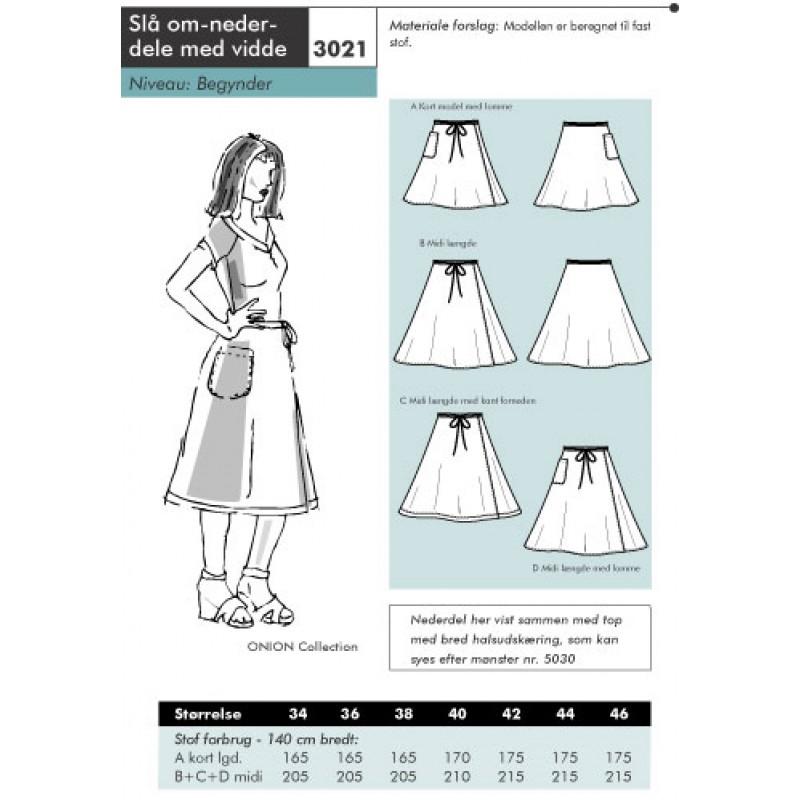 Onion 3021-Slå om-nederdel med vidde-31