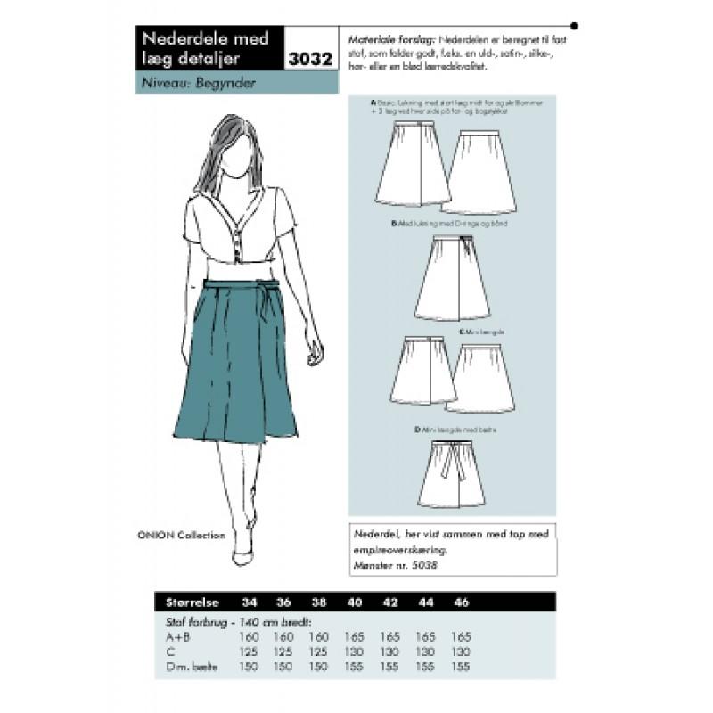 Onion 3032 Nederdel med læg detaljer-31