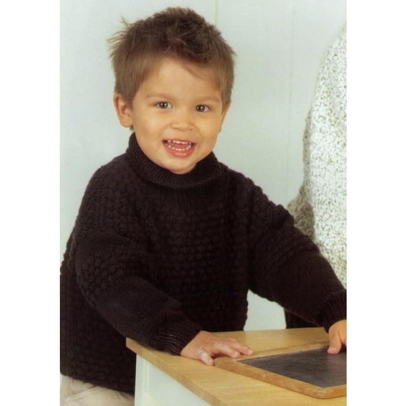 3752 Barnesweater m/boblemønster