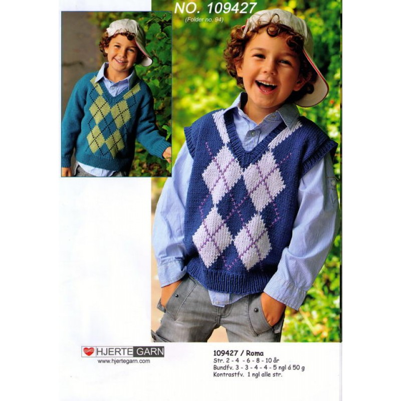 109427 Sweater and vest m/harlekintern-00