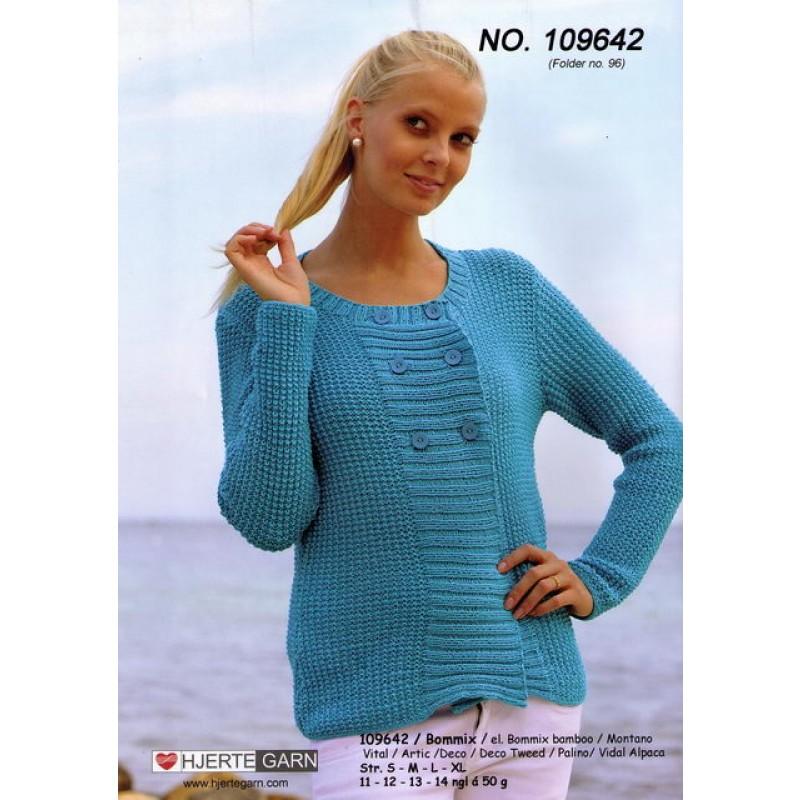 109642 Dobbeltradet trøje
