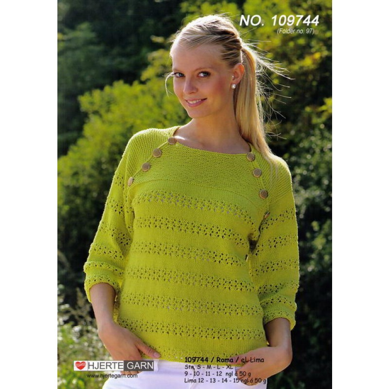 109744 Sweater m/hulmønster-00
