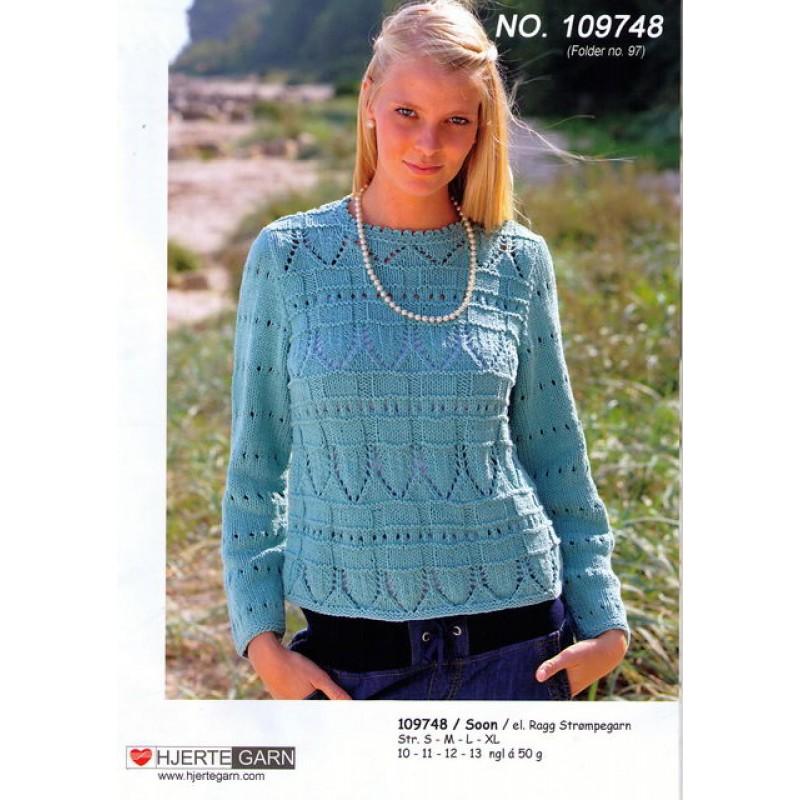 109748 Sweater m/hulmønster-30