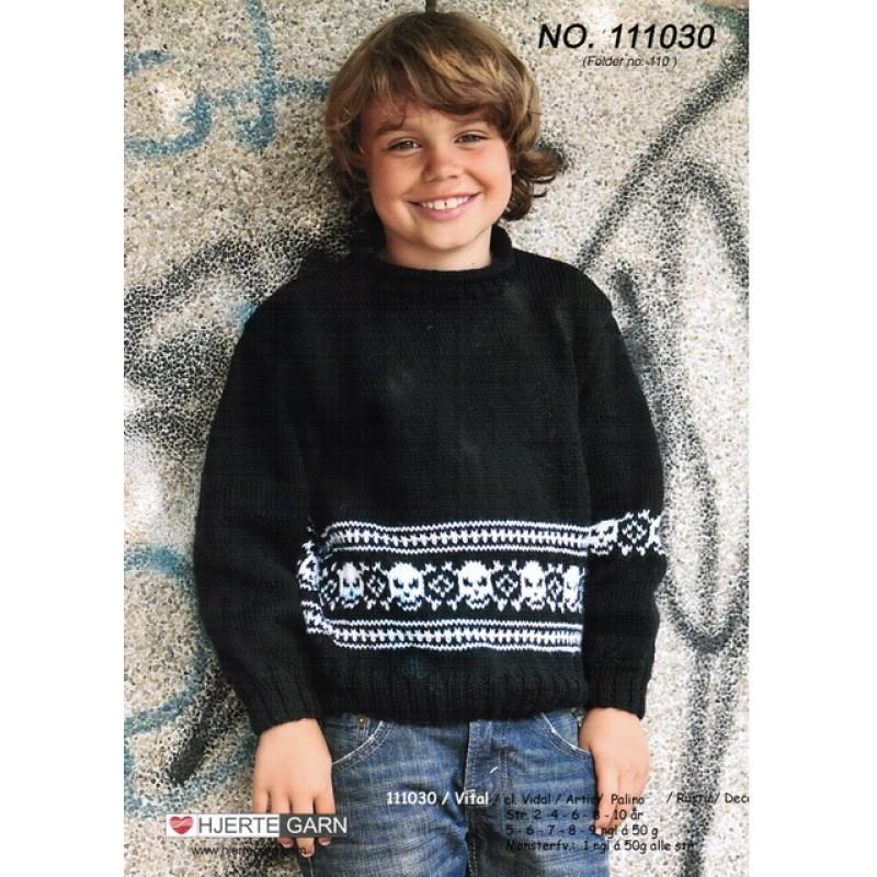111030 Sweater m/dødningehoveder