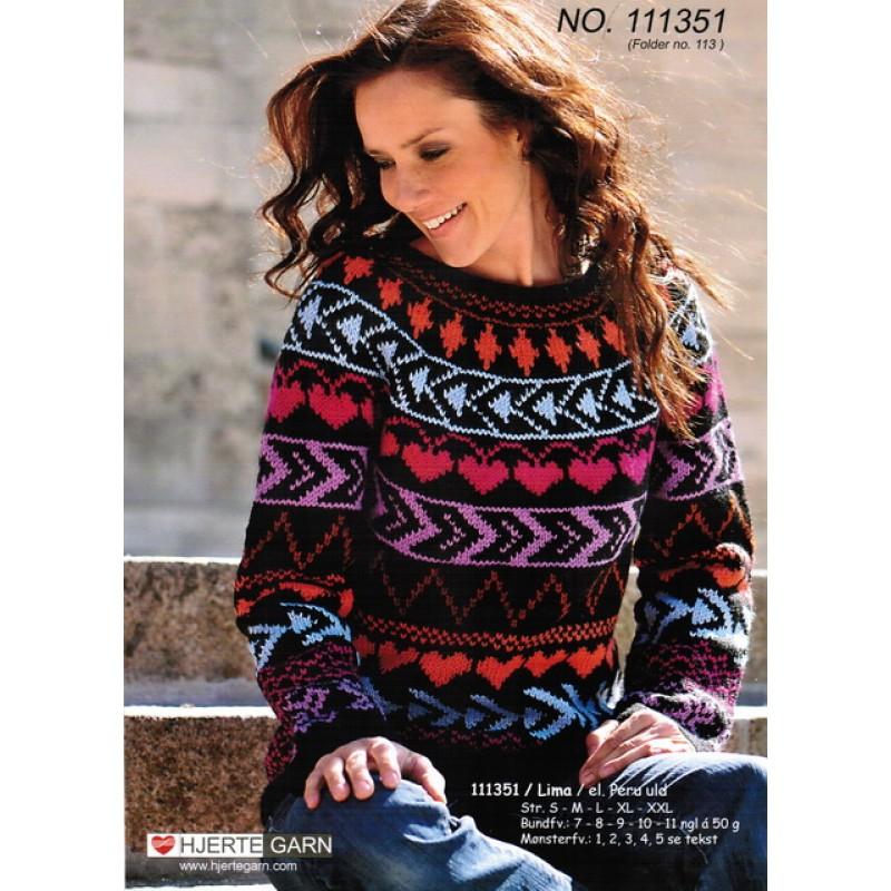 111351 Multifarvet sweater