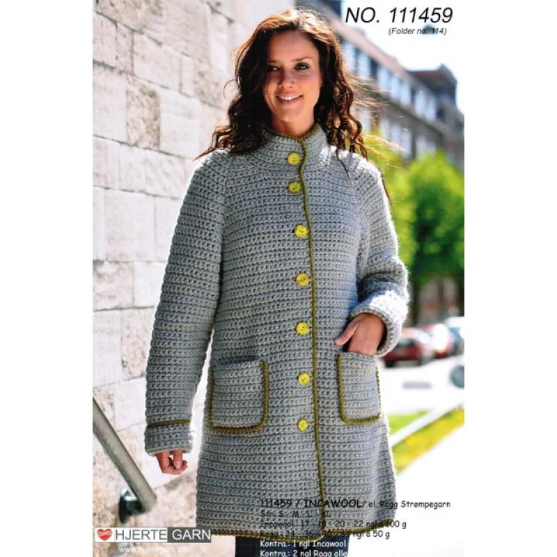 111459 Hæklet frakke