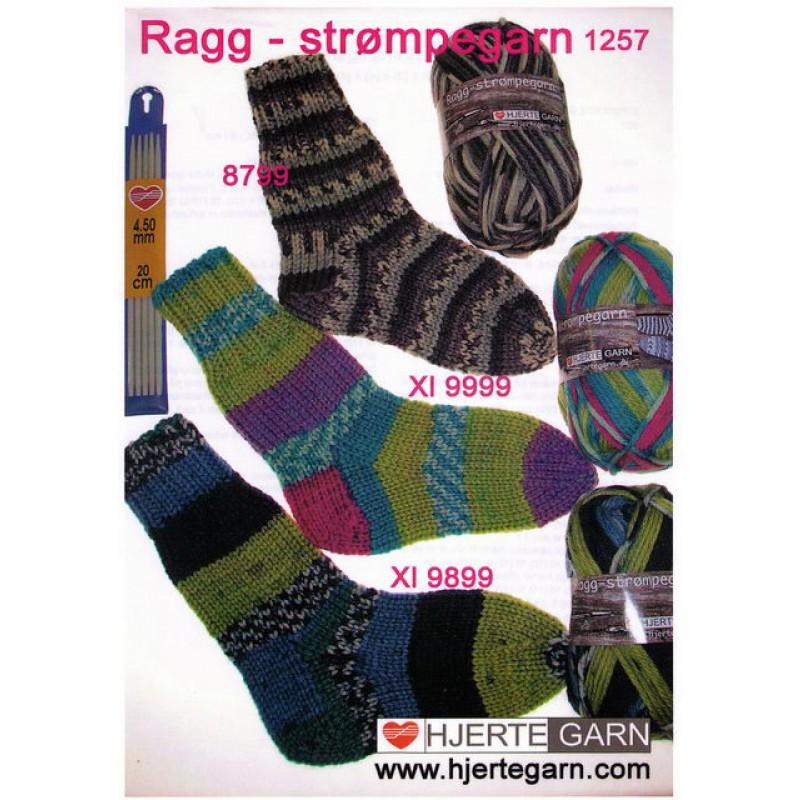 1257 Strømper i Ragg-strømpegarn