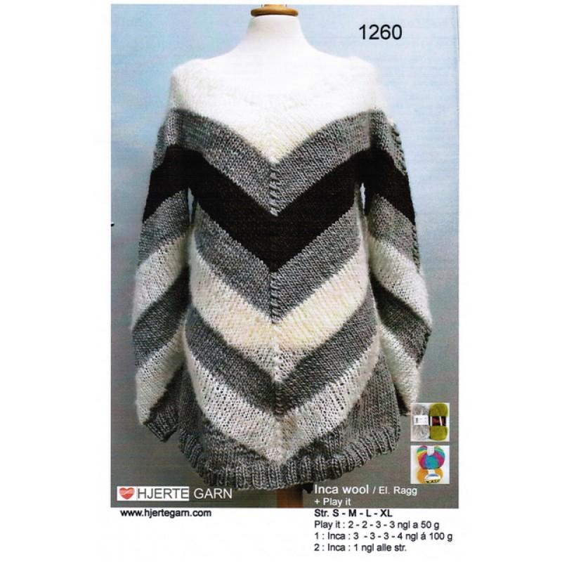 1260 Stribet sweater