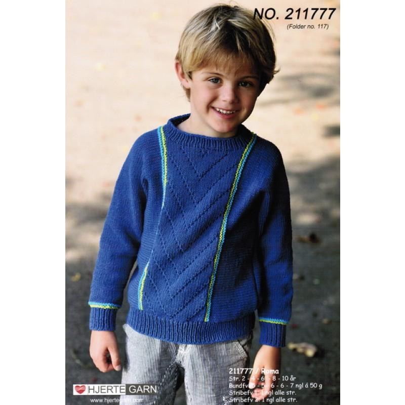 211777 Drengebluse m/kontraststriber-30