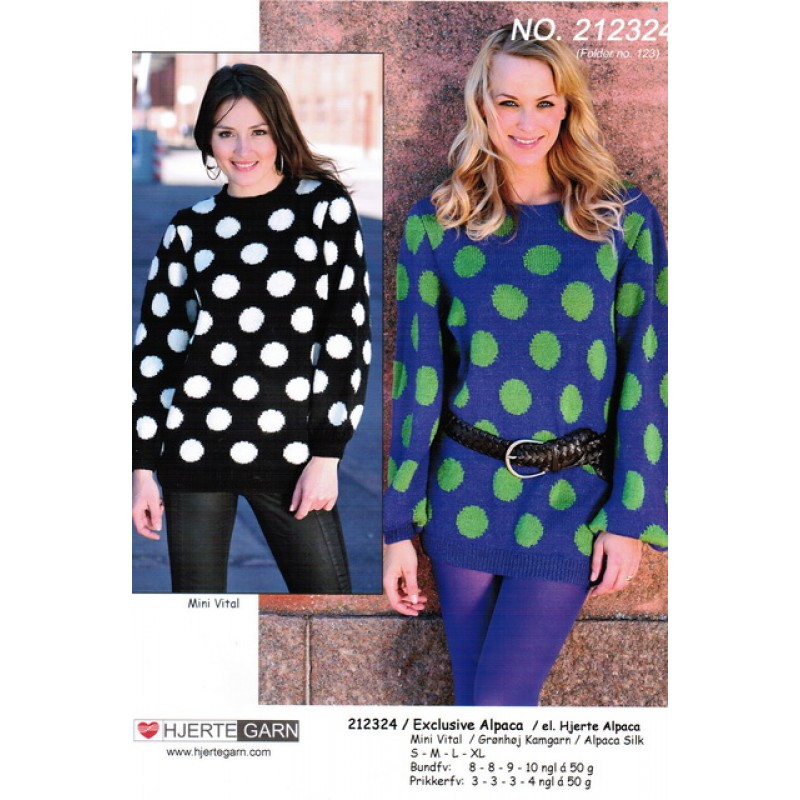 212324 Sweater m/jomboprikker