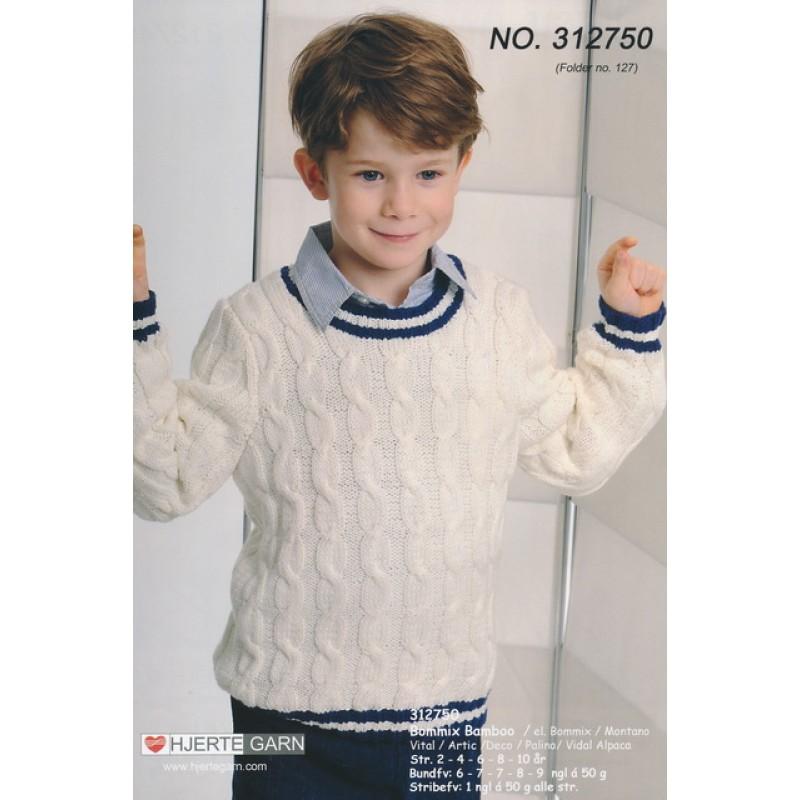 312750 Sweater m/snoninger