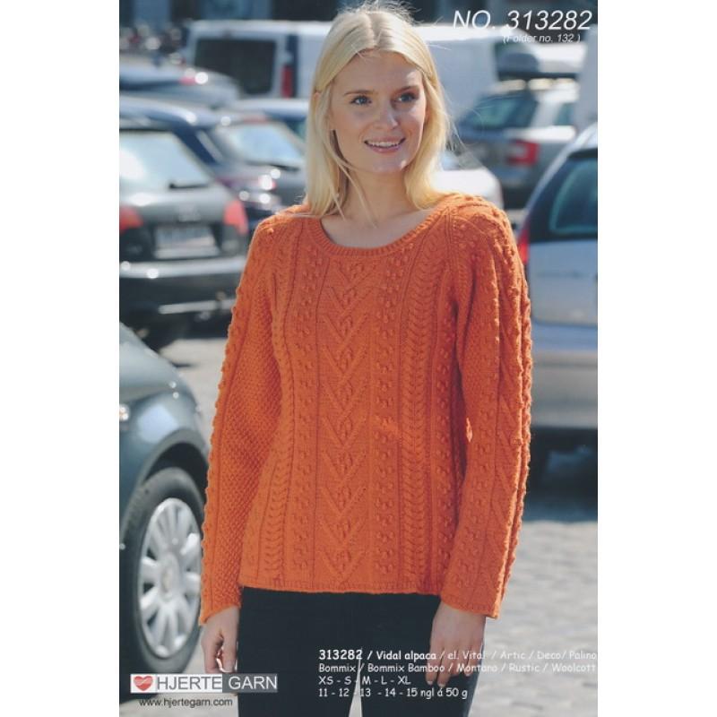 313282 Sweater m/aranborter-35
