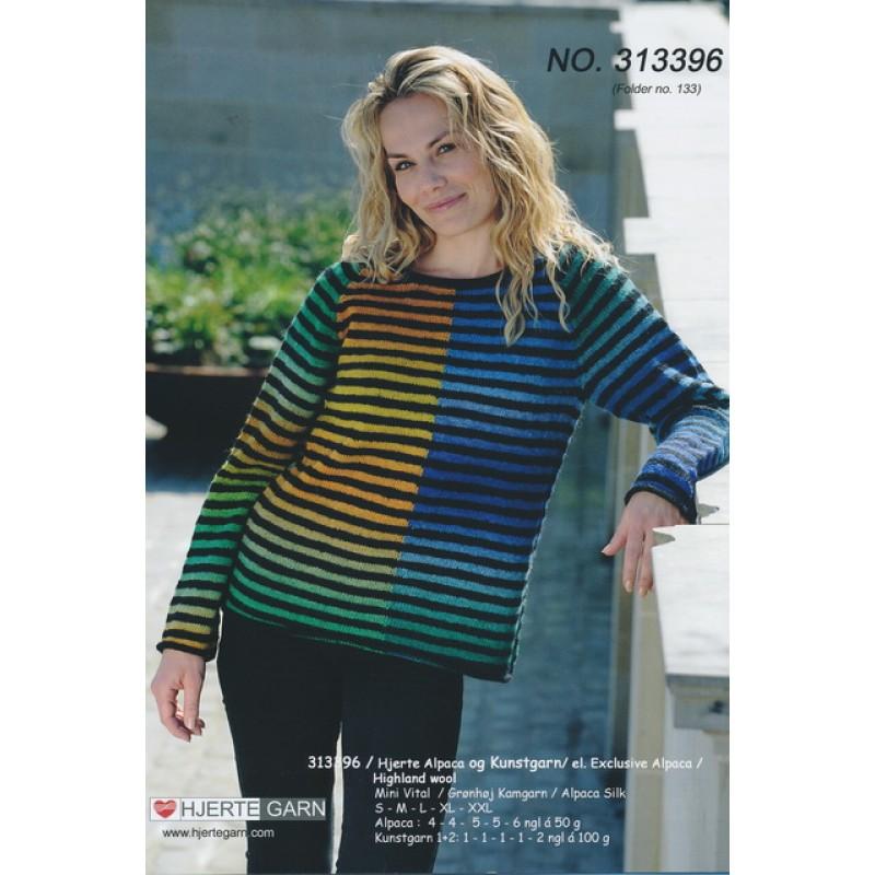 313396 Stribet sweater i 2 kvaliteter-35