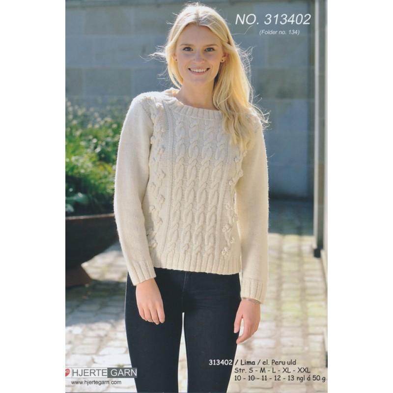 313402 Sweater m/aranmønster-35