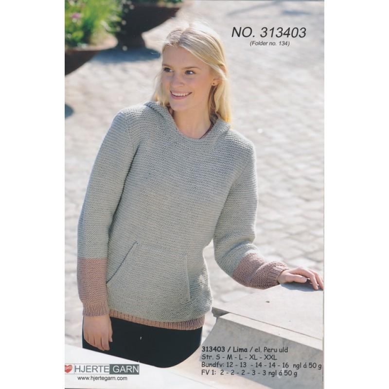 313403 Retstrikket Sweater