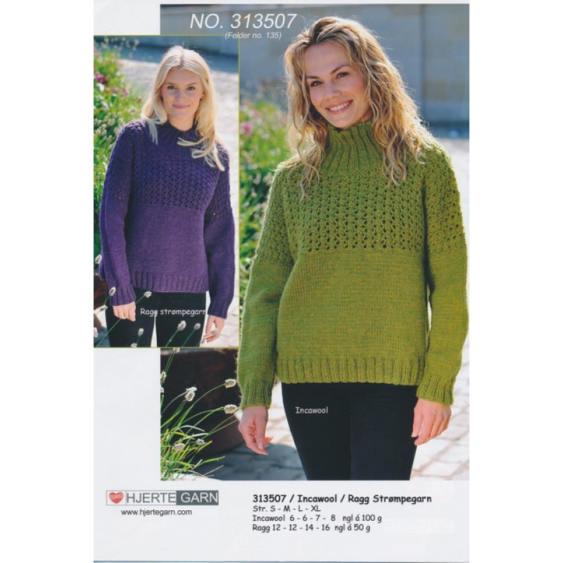 313507 Sweater m/hulmønster-30
