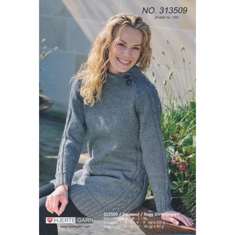 313508 Lang sweater m/snoning