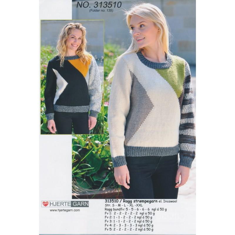 313510 Sweater m/farveblokke-00