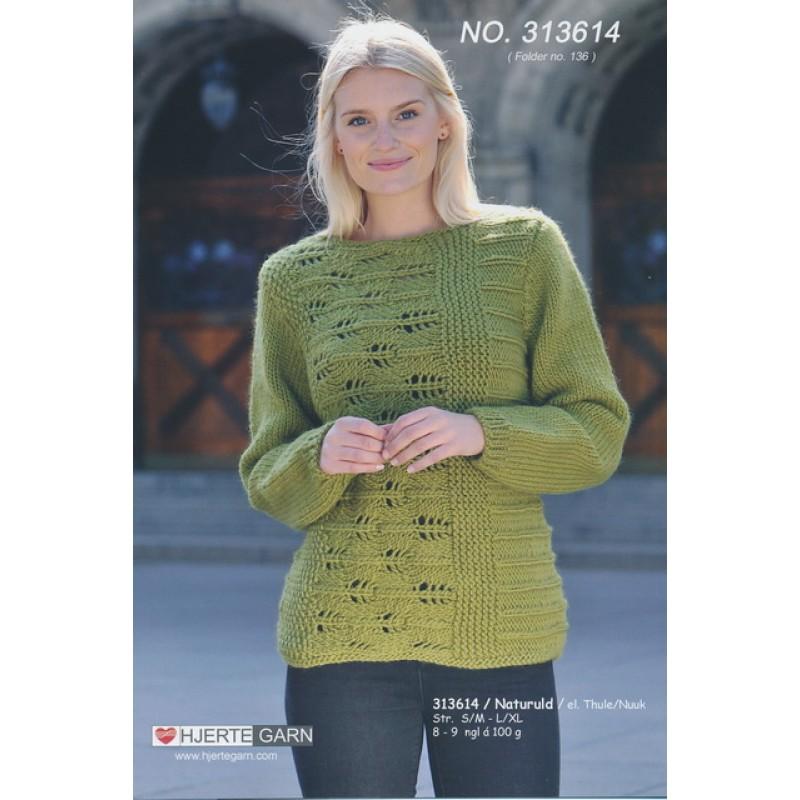313614 Tværstrikket Sweater