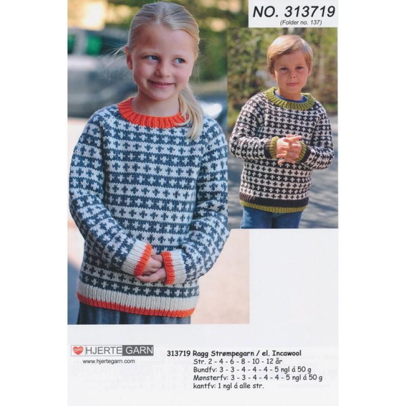 313719 Børnesweater m/raglanærmer and mønster-35