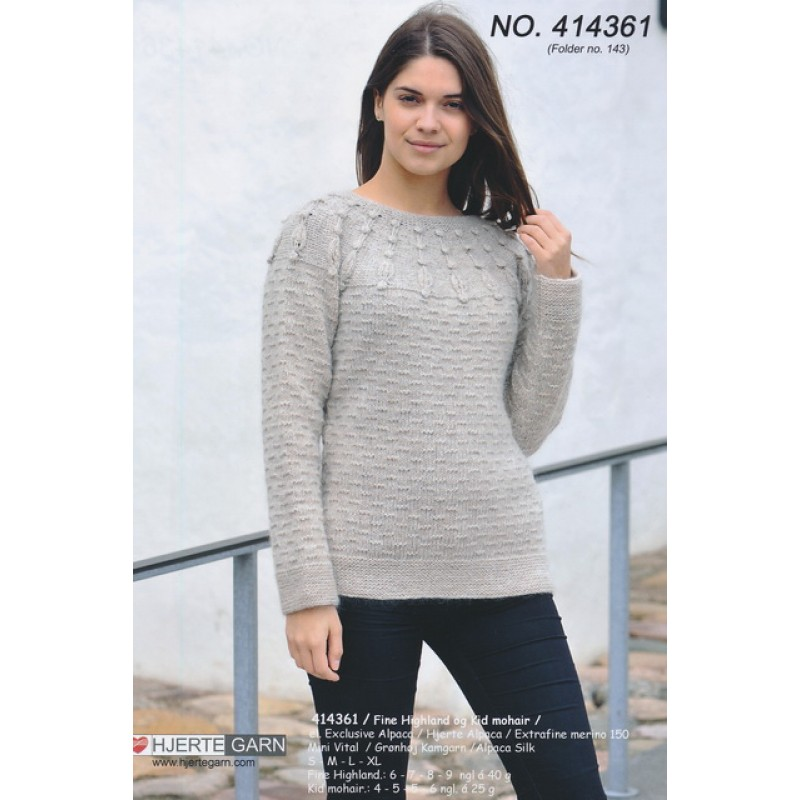 414361 Sweater i uld & mohair