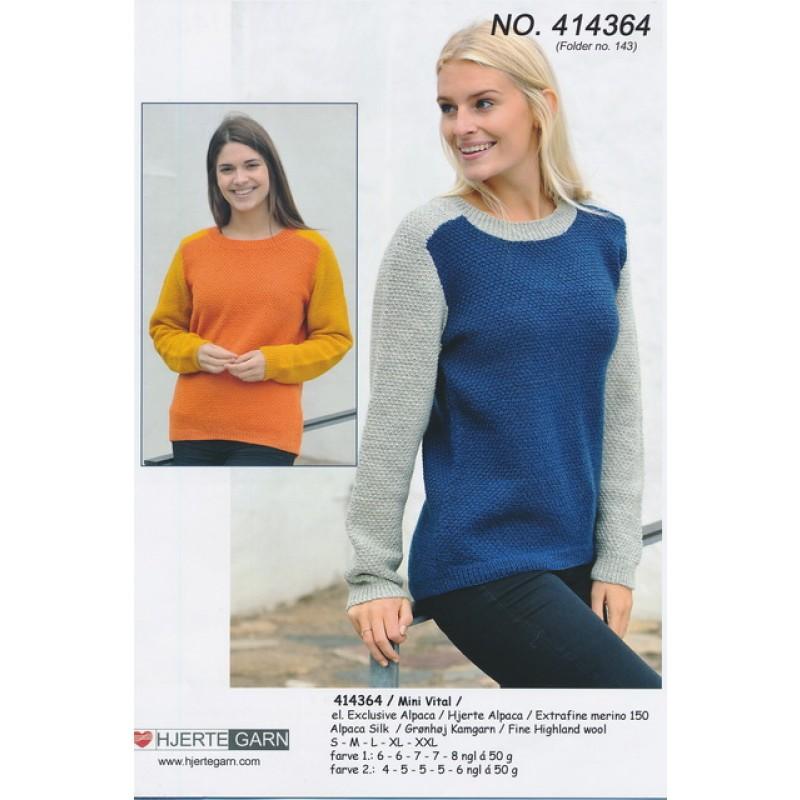 414364 2-farvet sweater