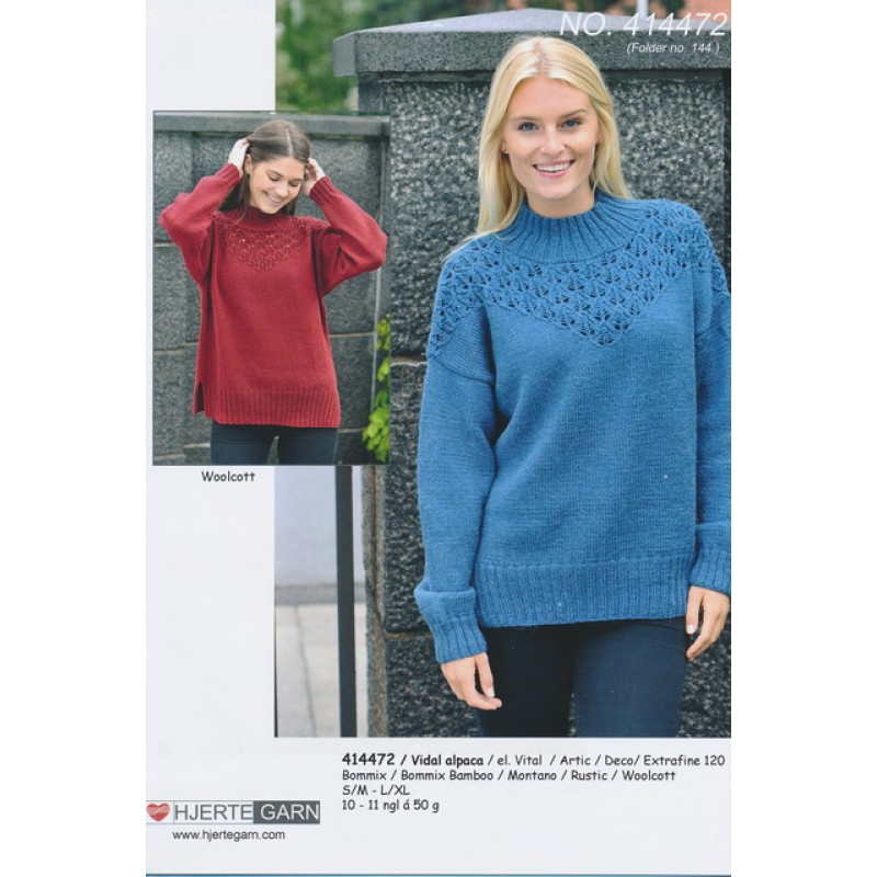 414472 Oversize sweater m/hulmønster-33