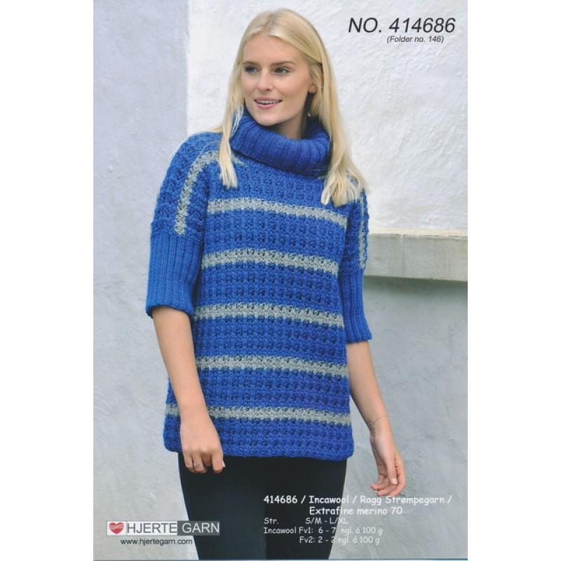 414686 Oversize sweater m/hulmønster-35