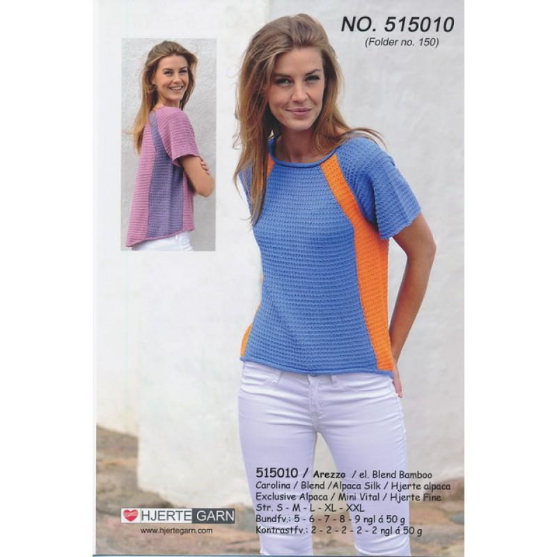 515010 Bluse m/kontrast-farve
