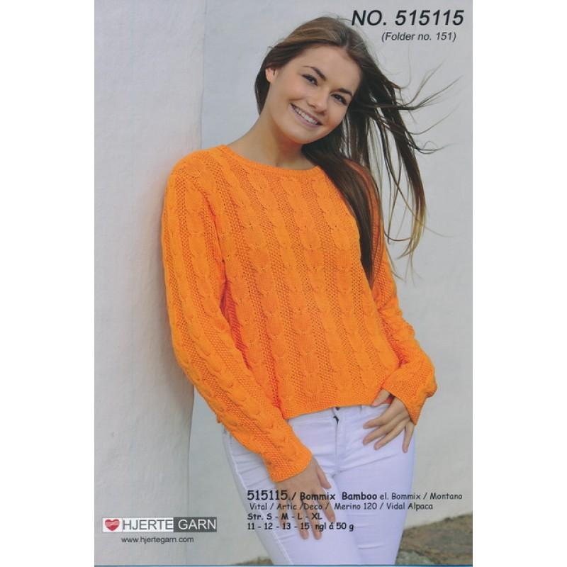 515115 Kort bred bluse m/snoninger