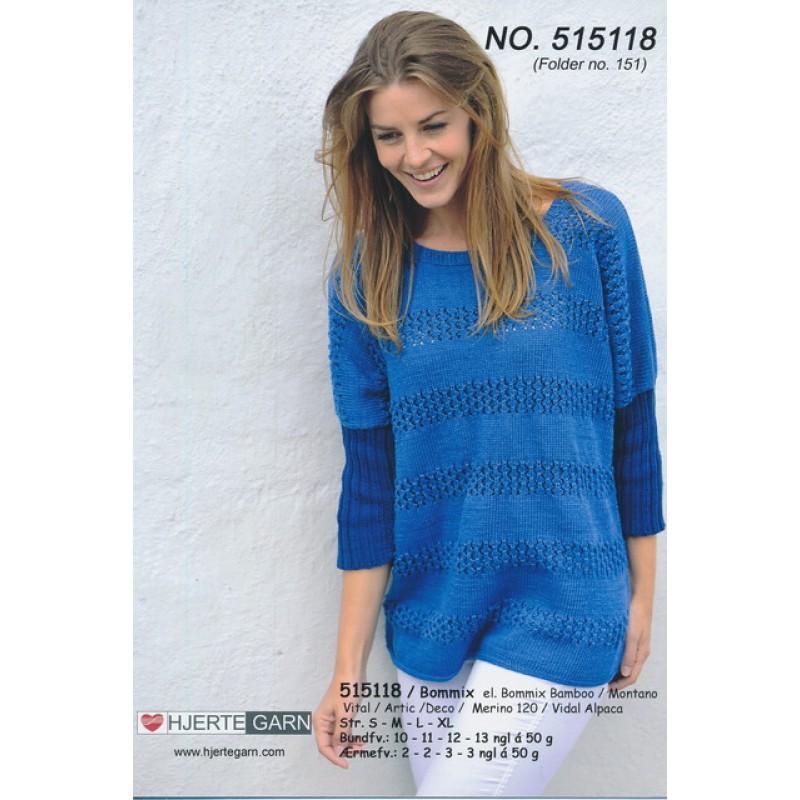 515118 Sweater m/rib-ærmer-33