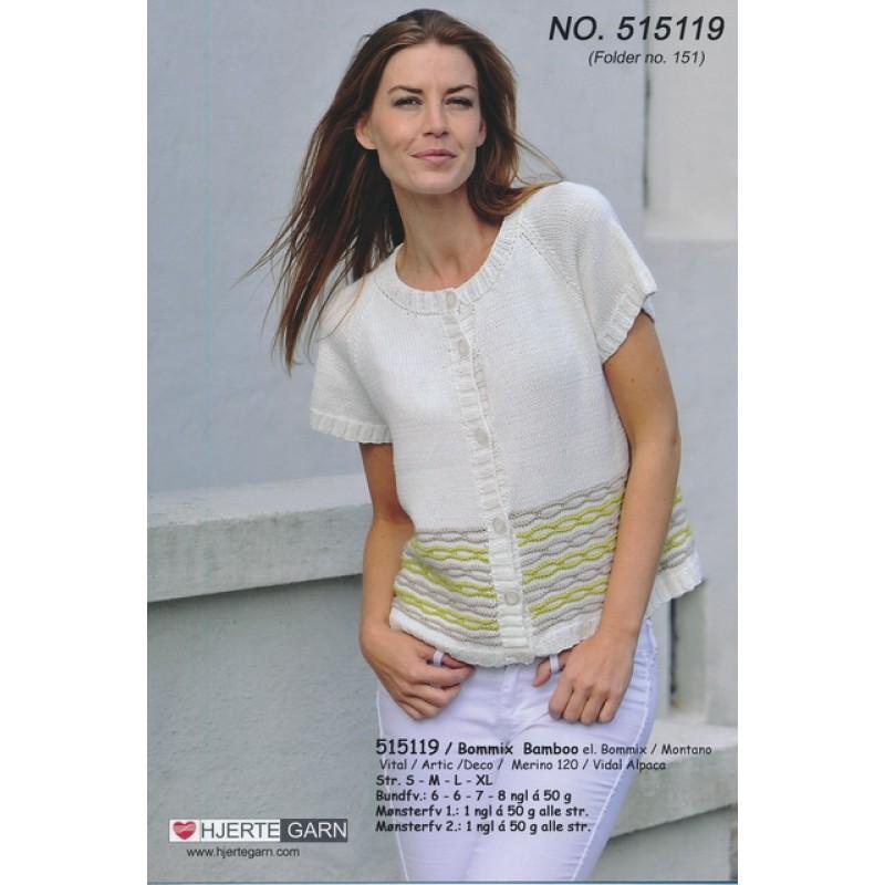 515119 Kort trøje m/kædemønster-33