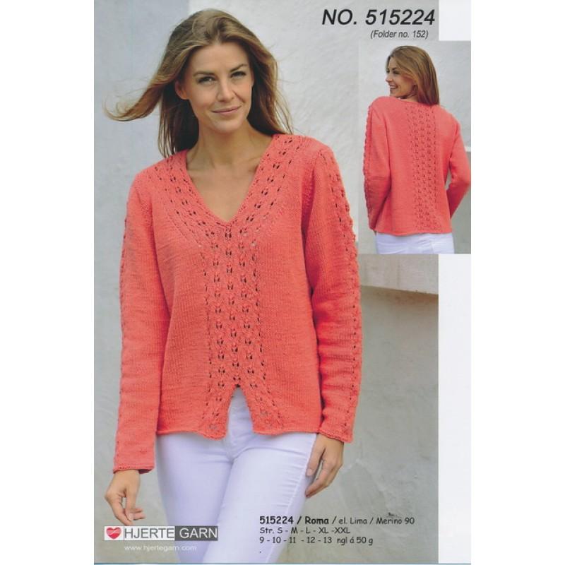 515224 Sweater m/V-hals-33