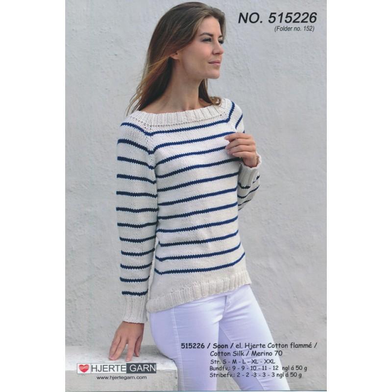 515226 Stribet top-down sweater-33