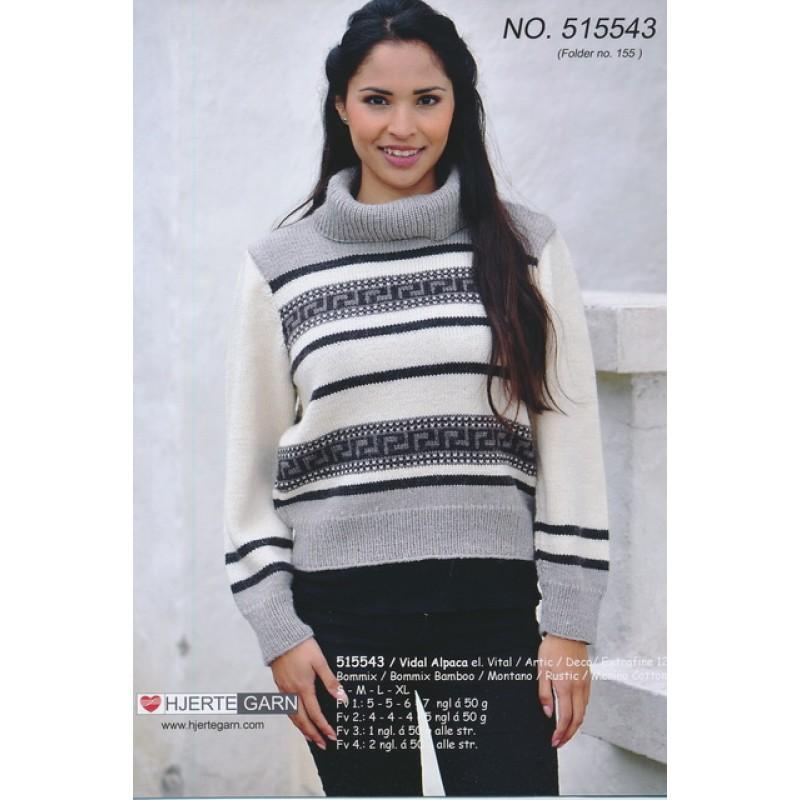 515543 Bluse i naturfarver-33