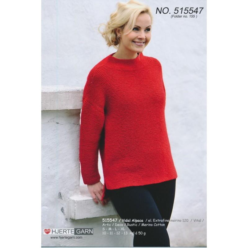 515547 Retstrikket sweater