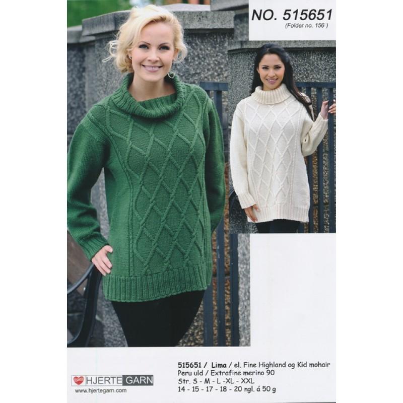 515651 Sweater m/rudemønster