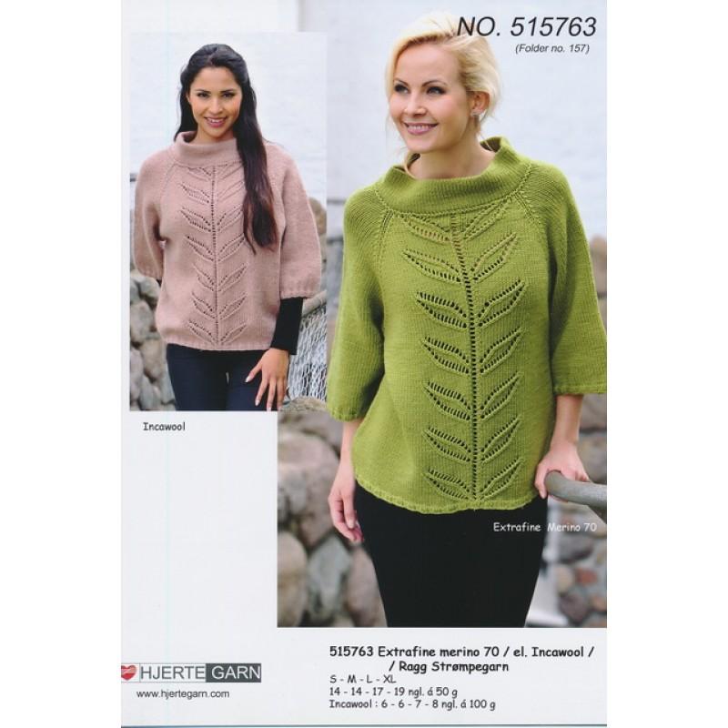 515763 Sweater m/bladbort-33