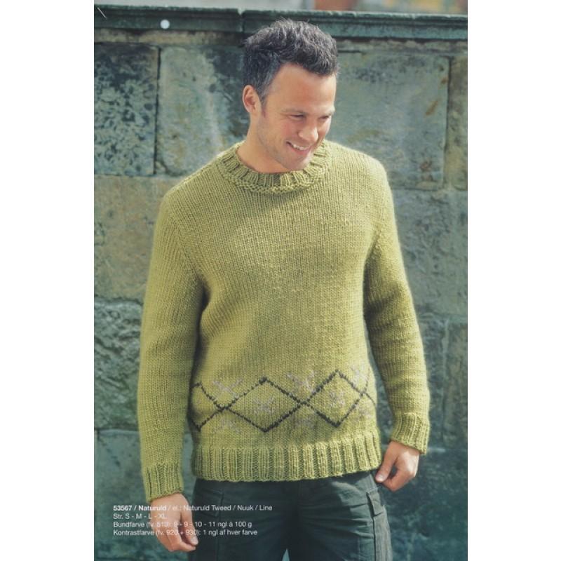 53567 Herre-sweater m/mønsterbort