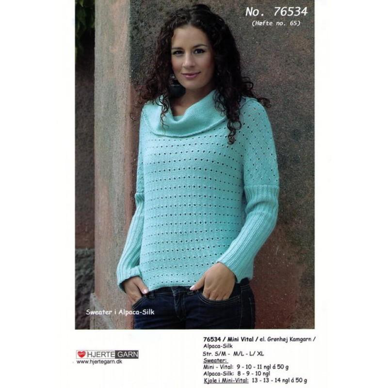 76534 Sweater m/kimonoærmer-00