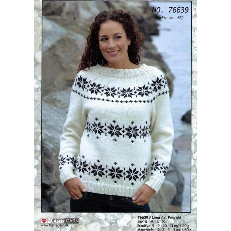 76639 Sweater m/Norsk mønster-30