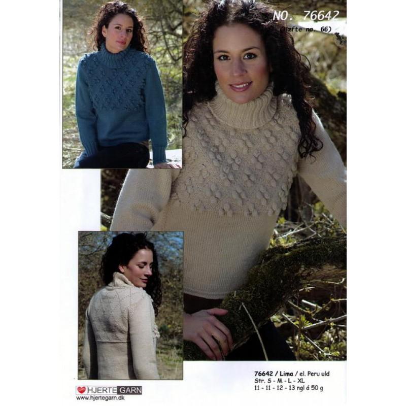 76642 Sweater m/rudemønster