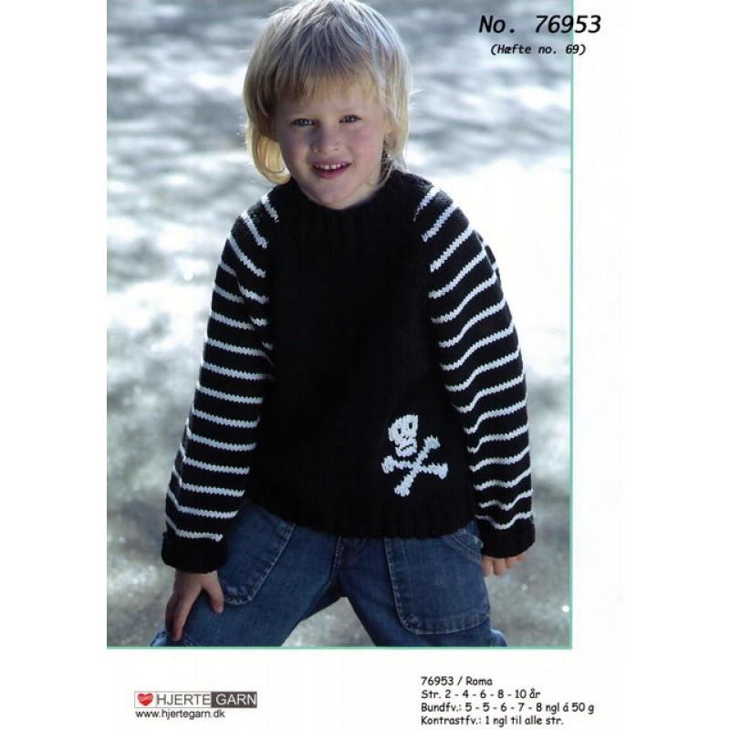 76953 Raglansweater m/dødningehoved