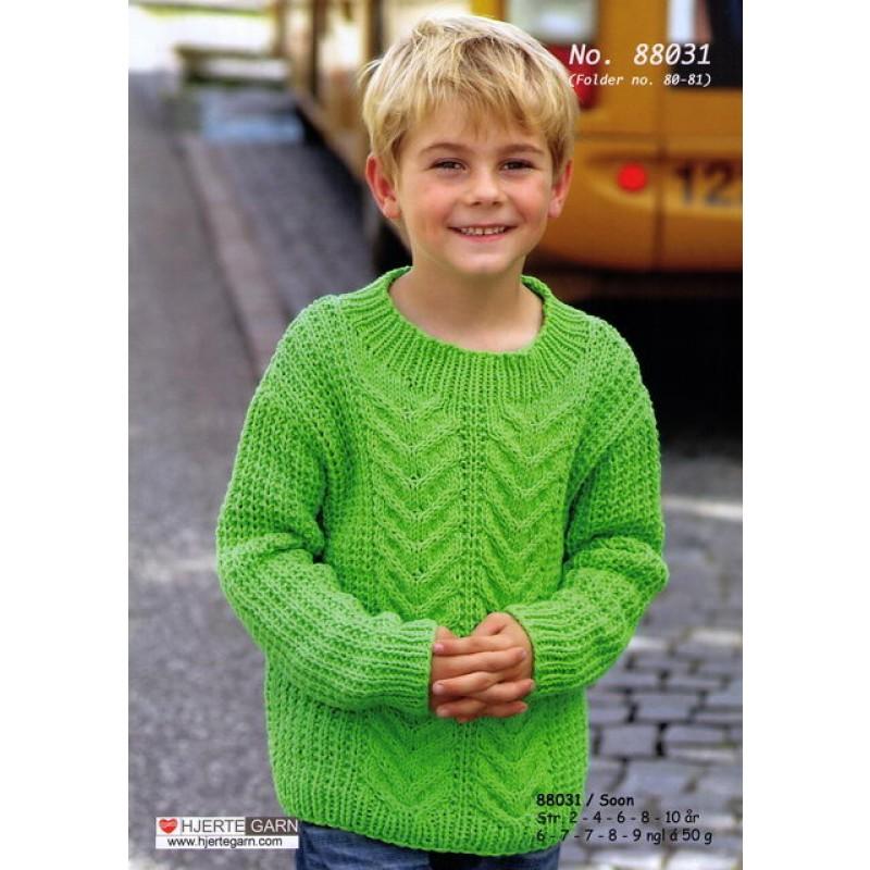 88031 Sweater m/fletmønster-00