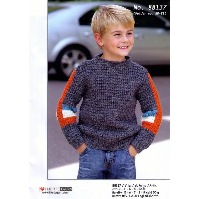 88137 Struktursweater m/fartstriber